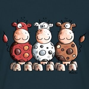 Funny Colourful Cows T-Shirts - Men's T-Shirt