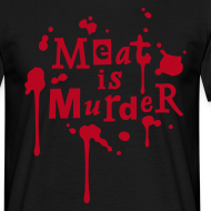 Motiv ~ Mens Shirt 'Meat is Murder'