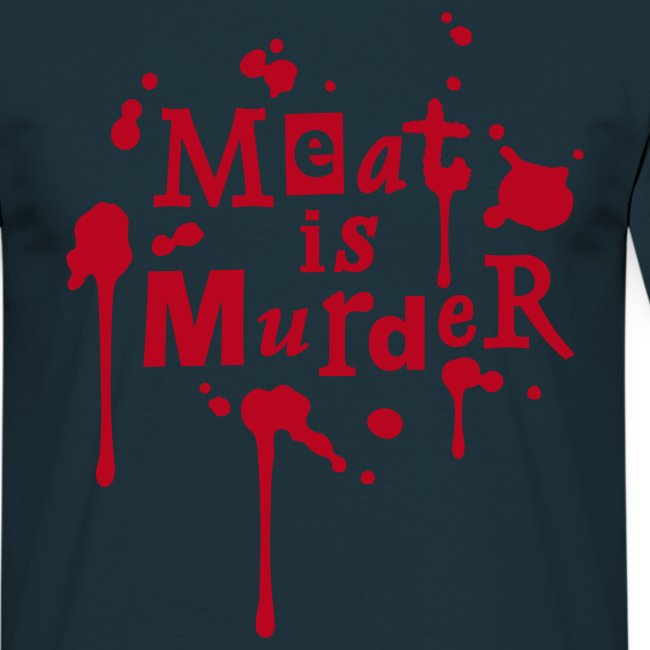 Mens Shirt 'Meat is Murder'