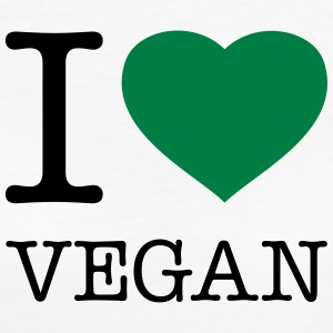 I LOVE VEGAN - Frauen Bio-T-Shirt