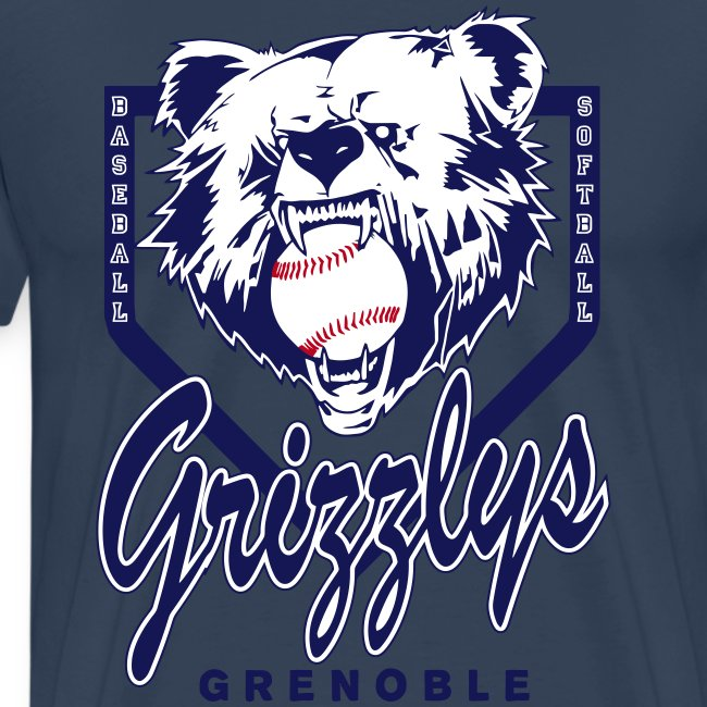 T-SHIRT DOP GRIZZLYS Navy