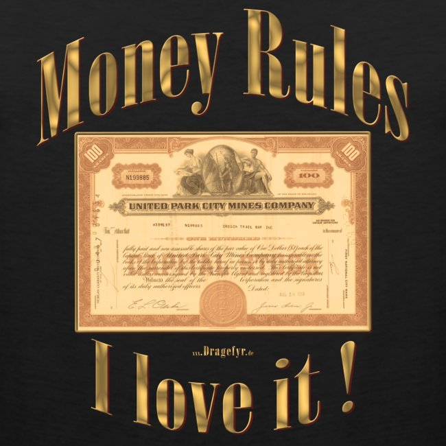 Money Rules | Exclusives Tank Topt by Dragefyr