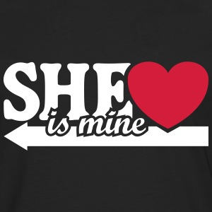 She is mine I love you my Girlfriend She's baby  Shirts met lange mouwen - Mannen Premium shirt met lange mouwen