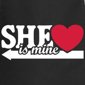 She is mine I love you my Girlfriend Freundin Baby Schürzen - Kochschürze