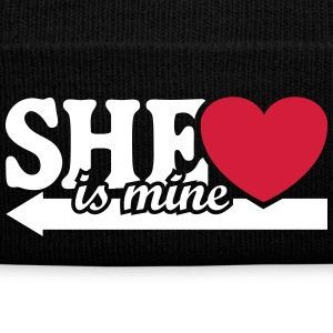 She is mine I love you my Girlfriend She's baby  Gorras y gorros - Gorro de invierno