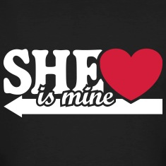 She is mine I love you my Girlfriend Baby T-Shirts