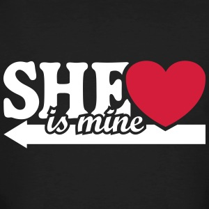 She is mine I love you my Girlfriend Jag älskar  T-shirts - Ekologisk T-shirt herr