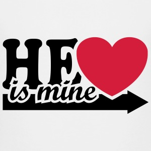 He is mine I love you my Boyfriend Ik hou van jou Shirts - Teenager Premium T-shirt