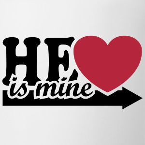 He is mine I love you my Boyfriend Man Husband Boy Tazas y accesorios - Taza