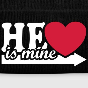 He is mine I love you my Boyfriend Ik hou van jou Petten & Mutsen - Wintermuts