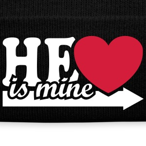 He is mine I love you my Boyfriend Man Husband Boy Gorras y gorros - Gorro de invierno