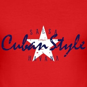 cuban style_vec_3 en T-Shirts - Men's Slim Fit T-Shirt