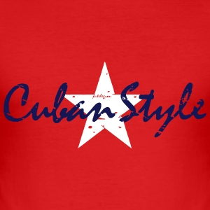 cuban style_vec_2 en T-Shirts - Men's Slim Fit T-Shirt