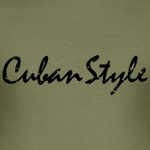 cuban style_vec_1 en T-Shirts - Men's Slim Fit T-Shirt