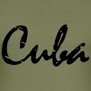 cuba_vec_1 en T-Shirts - Men's Slim Fit T-Shirt