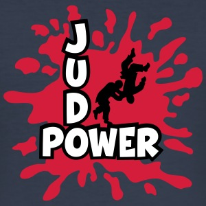 Judo-Power Logo Klecks      - Männer Slim Fit T-Shirt