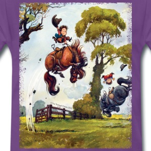 PonyRodeo Thelwell Cartoon  T-Shirts - Men's Premium T-Shirt