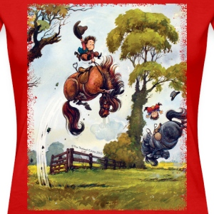 PonyRodeo Thelwell Cartoon  T-Shirts - Women's Premium T-Shirt
