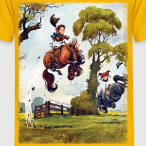 Ponnyrodeo Thelwell-serie T-shirts - Premium-T-shirt barn