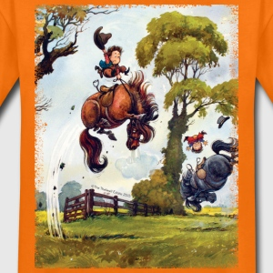 PonyRodeo Thelwell Cartoon  T-Shirts - Teenager Premium T-Shirt