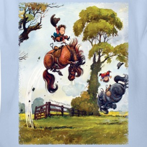 Pony rodeo Thelwell Cartoon Shirts - Baby bio-rompertje met korte mouwen