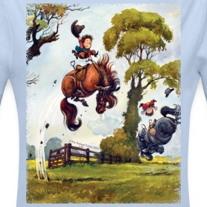 PonyRodeo Thelwell Cartoon  Body neonato - Body a manica lunga baby
