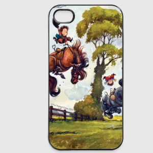 PonyRodeo Thelwell Cartoon  Etuier for mobil & nettbrett - iPhone 4/4s hard case