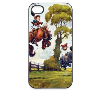 PonyRodeo Thelwell Cartoon  Phone & Tablet Cases - iPhone 4/4s Hard Case