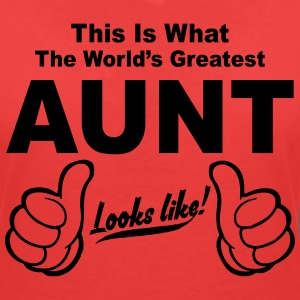 Worlds Greatest Aunt Looks Like  T-Shirts - Women's V-Neck T-Shirt