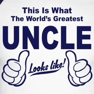 Worlds Greatest Uncle Looks Like Long sleeve shirts - Men's Long Sleeve Baseball T-Shirt