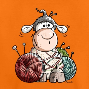 Funny Sheep With Wool Ball Shirts - Kids' Premium T-Shirt