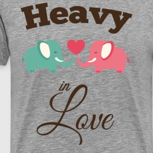 Heavy in love with cute elephant T-Shirts - Men's Premium T-Shirt