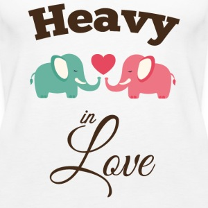 Heavy in love with cute elephant Tops - Women's Premium Tank Top