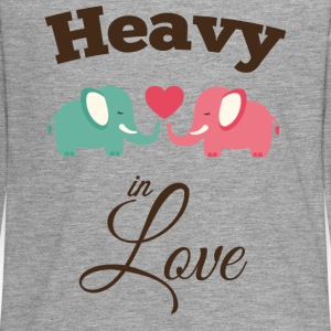 Heavy in love with cute elephant Long Sleeve Shirts - Teenagers' Premium Longsleeve Shirt