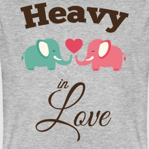 Heavy in love with cute elephant T-Shirts - Men's Organic T-shirt