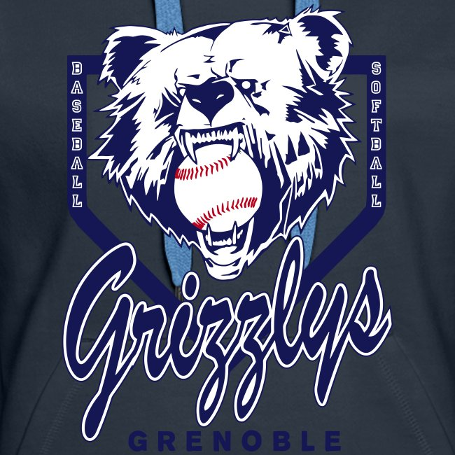 SWEAT CAPUCHE GIRL GRIZZLYS Navy