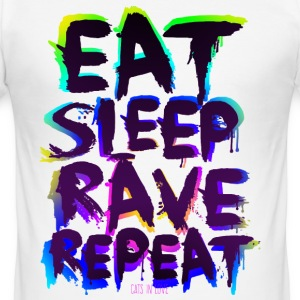Eat Sleep Rave Repeat for White Shirts T-Shirts - Männer Slim Fit T-Shirt