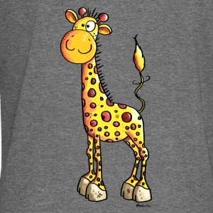 Cute Girafe Hoodies & Sweatshirts - Women's Boat Neck Long Sleeve Top