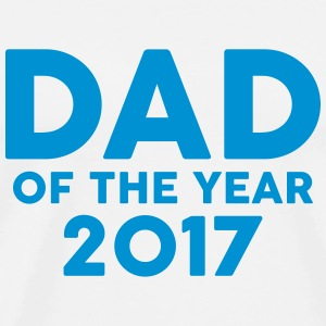 Dad of the Year 2017 T-shirts - Herre premium T-shirt