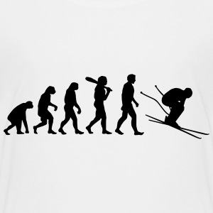 Evolution Skifahrer T-Shirts - Teenager Premium T-Shirt