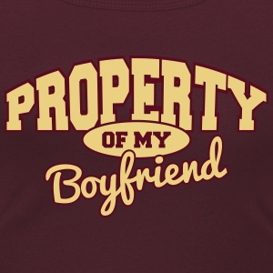 Property of my boyfriend T-Shirts - Women's Scoop Neck T-Shirt