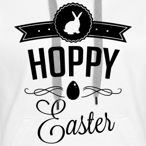 Hoppy easter Sweat-shirts - Sweat-shirt à capuche Premium pour femmes