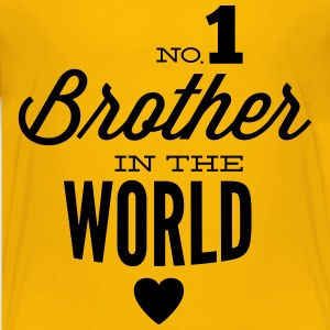 no1 brother of the world T-shirts - Premium-T-shirt tonåring