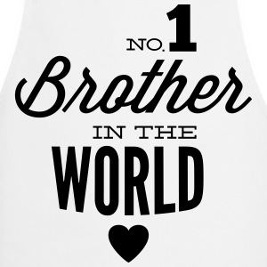 no1 brother of the world  Aprons - Cooking Apron