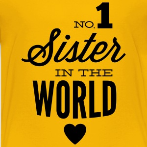 no1 sister of the world Camisetas - Camiseta premium adolescente