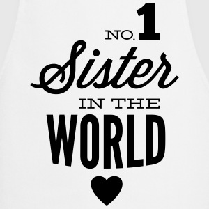 no1 sister of the world  Aprons - Cooking Apron