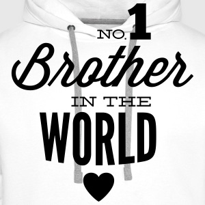 no1 brother of the world Felpe - Felpa con cappuccio premium da uomo