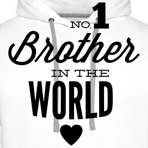 no1 brother of the world Sweaters - Mannen Premium hoodie
