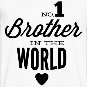 no1 brother of the world Camisetas - Camiseta de pico hombre