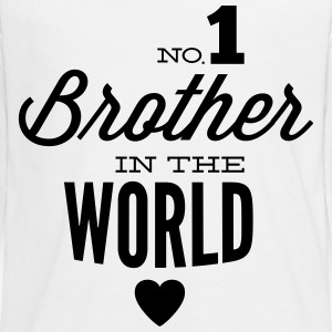 no1 brother of the world Långärmade T-shirts - Långärmad premium-T-shirt tonåring